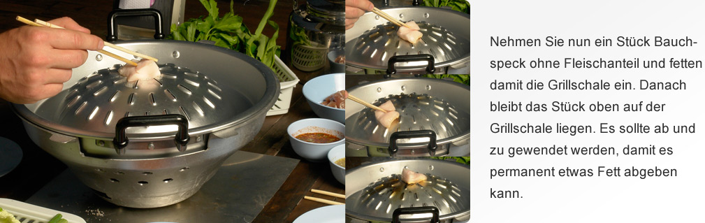 Thai Grill einfetten