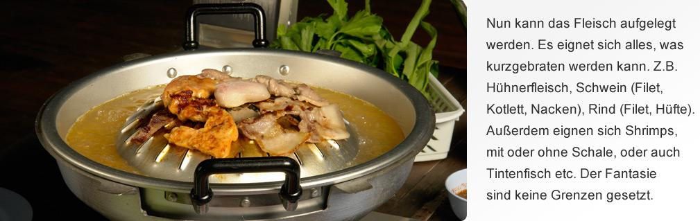 Fleisch und Fisch auflegen